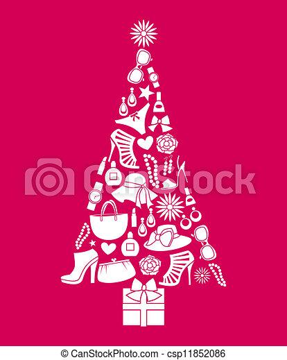Fashion Christmas Tree - csp11852086