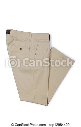 Fashion concept with trousers on white - csp12984420