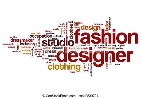 fashion designer word cloud concept
