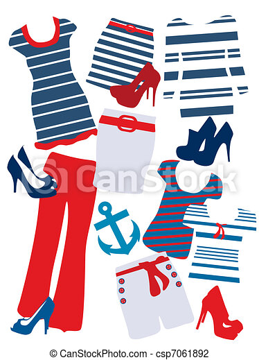 Fashion elements for women  - csp7061892