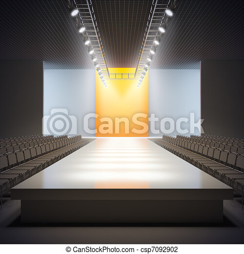 Fashion empty runway. - csp7092902