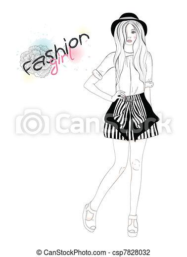 Fashion Girl Model Posing