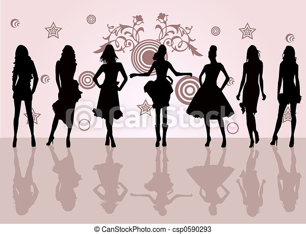 Fashion Girls - csp0590293