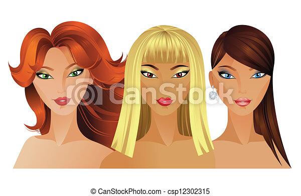 fashion girls - csp12302315
