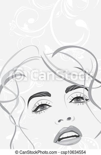 Fashion hairstyle. Banner - csp10634554