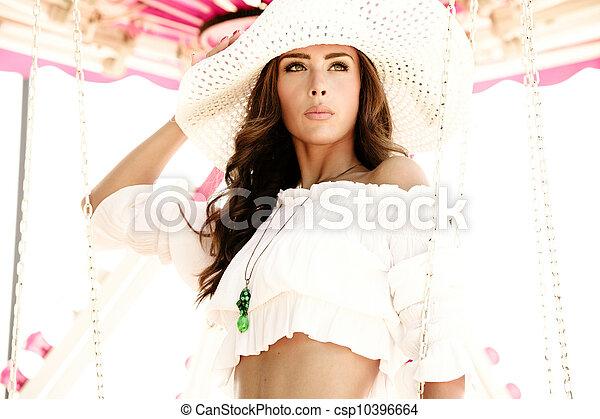 fashion in amusement park - csp10396664