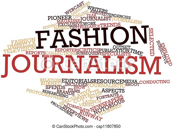 Abstract Word Cloud For Fashion Journalism With Related Tags Stock Illustrations Search