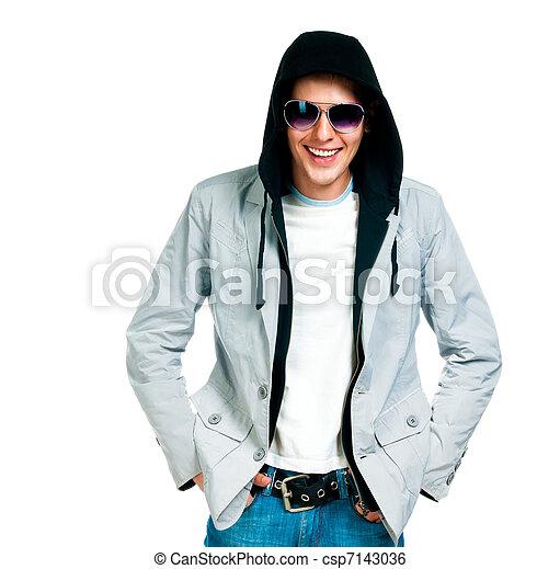 fashion man in sunglasses - csp7143036