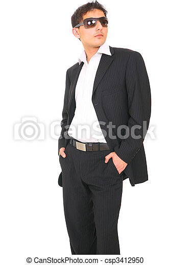 Fashion Model In Suit - csp3412950