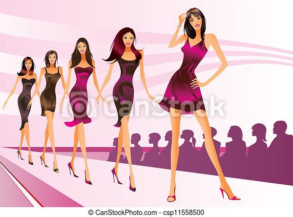 Fashion models represent clothes - csp11558500