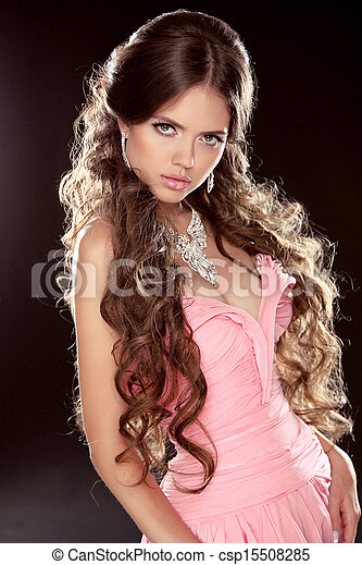 Fashion photo of young magnificent woman. - csp15508285
