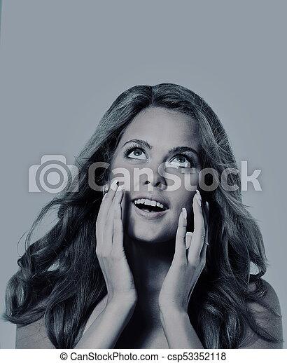 fashion portrait of a woman - csp53352118
