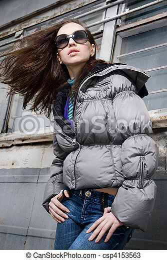 Fashion portrait of attractive young woman - csp4153563