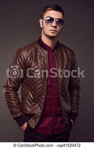 Fashion portrait of young handsome man - csp41520472