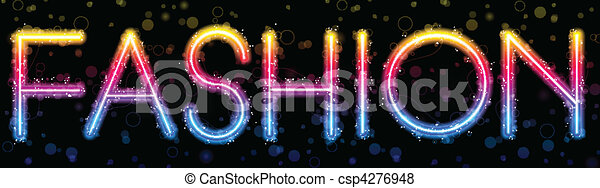 Fashion Rainbow Lights  Glitter with Sparkles - csp4276948