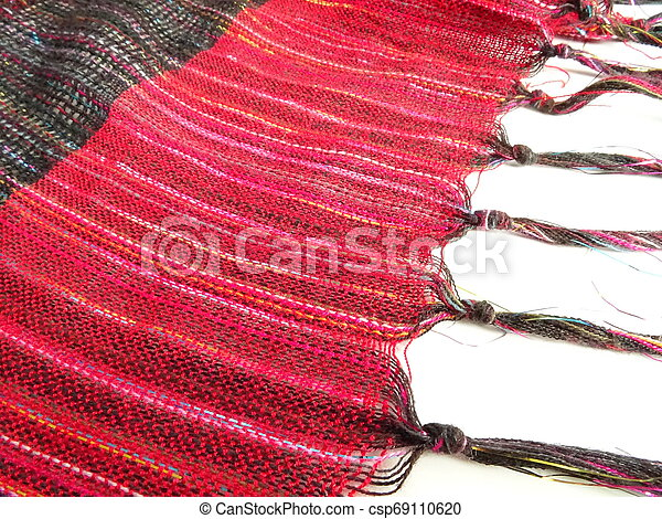 Fashion Red Stole with Fringes - csp69110620