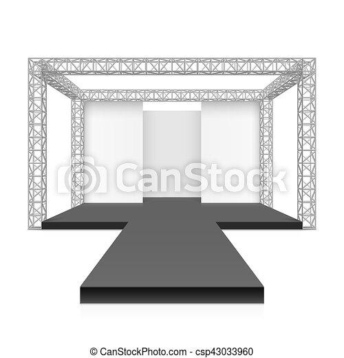Fashion Runway Podium Stage Vector