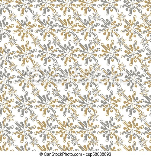 Fashion Seamless Christmas Pattern With Golden Snowflakes For A Stylish Fabrics Prints Textile Wallpaper Trendy Grunge Texture Print