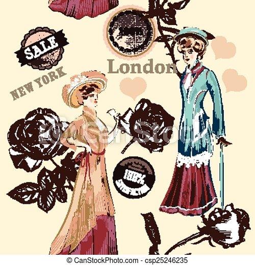 Fashion Seamless Wallpaper Pattern