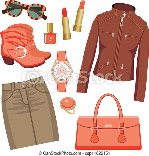 Fashion set with skirt and a jacket - csp11822151