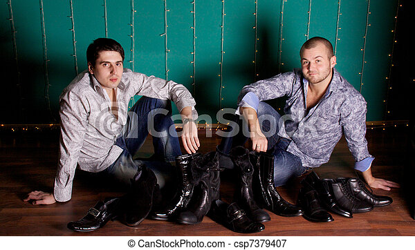 Fashion Shot of a trendy European men - csp7379407