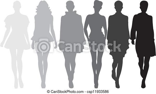 fashion silhouette - csp11933586