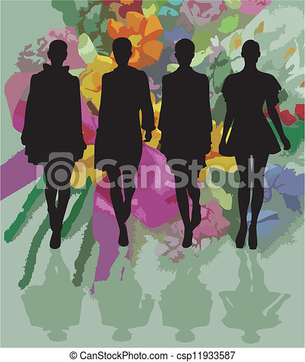 fashion silhouette - csp11933587