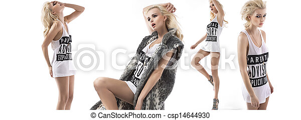Fashion style multiple photo of a girl - csp14644930