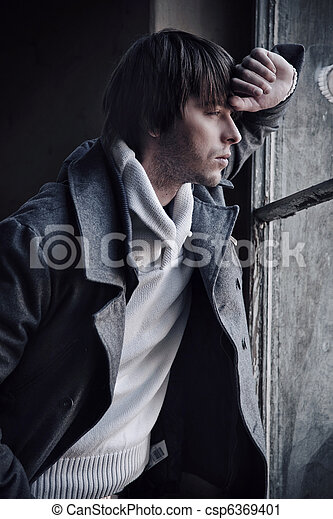 Fashion style photo of a handsome guy - csp6369401