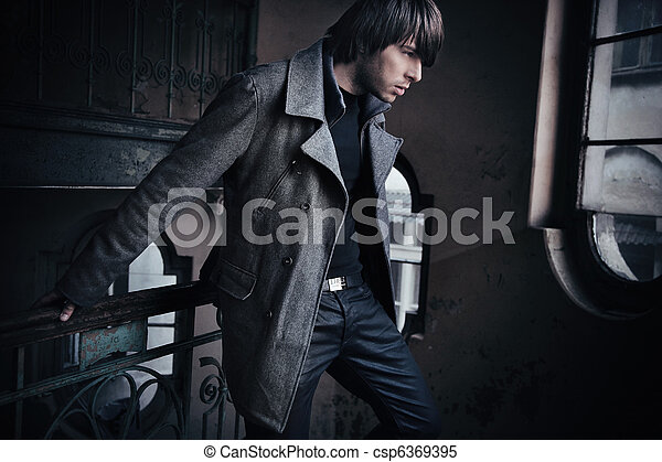 Fashion style photo of a handsome guy - csp6369395