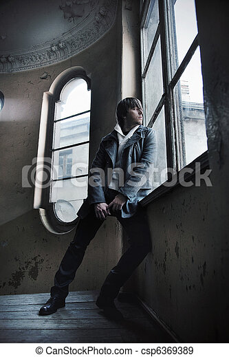 Fashion style photo of a handsome guy - csp6369389