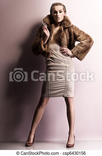 Fashion style photo of a young beauty - csp6430156
