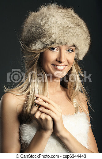 Fashion style photo of a young blonde - csp6344443