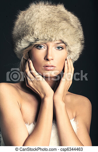 Fashion style photo of a young blonde - csp6344463