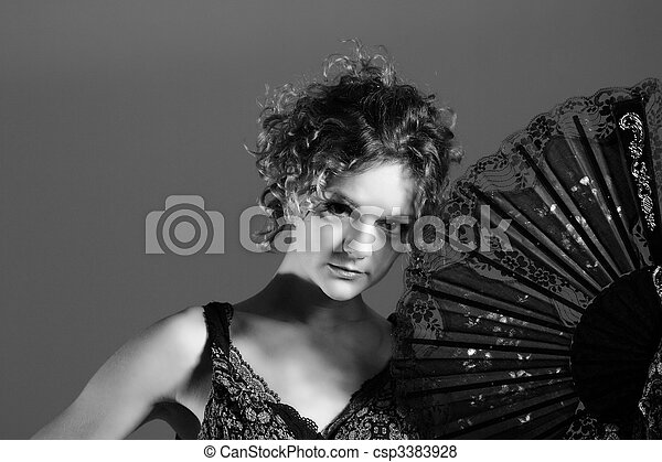 Fashion style photo of a young lady - csp3383928
