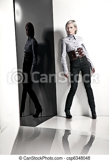 Fashion style photo of a young lady - csp6348048