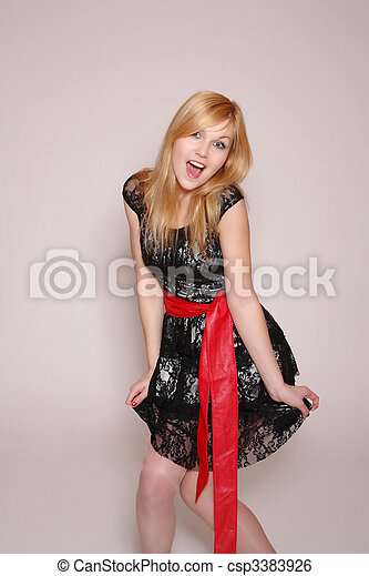 Fashion style photo of a young lady - csp3383926
