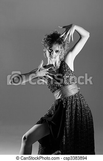 Fashion style photo of a young lady - csp3383894