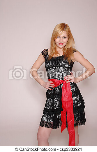 Fashion style photo of a young lady - csp3383924