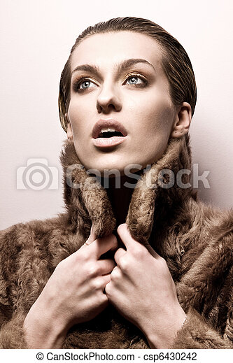 Fashion style photo of a young lady - csp6430242