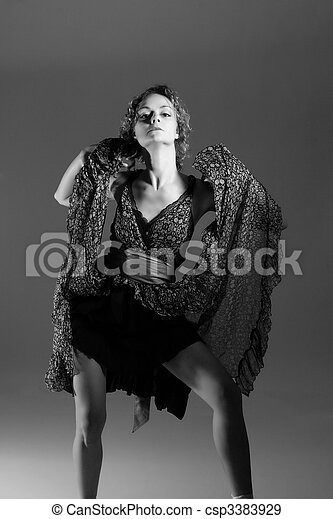 Fashion style photo of a young lady - csp3383929