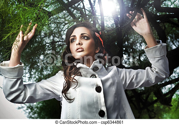 Fashion style photo of a young attractive woman - csp6344861