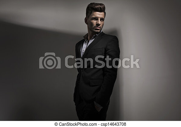 Fashion style photo of young guy - csp14643708