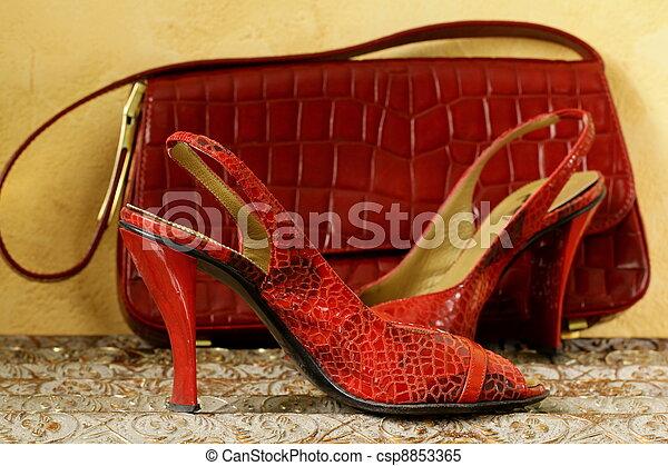Fashion stylish red women's shoes - csp8853365