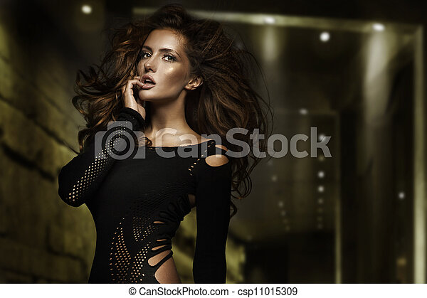 Fashion type photo of a stunning young beauty - csp11015309