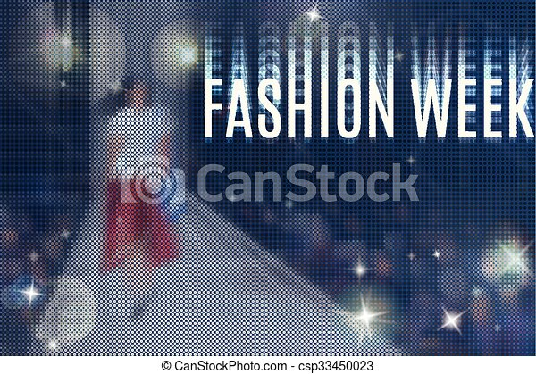 Fashion Week Flyer Fashion Show Abstract Vector Background With