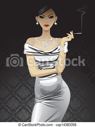 Fashion woman  - csp14383356