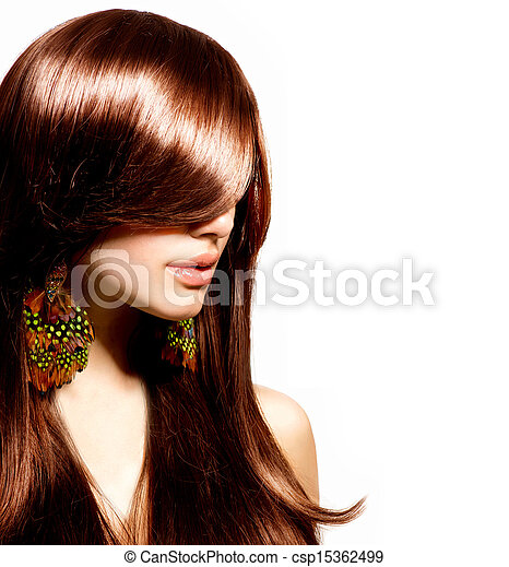 Fashion Woman Portrait. Stylish Model. Beauty Makeup - csp15362499