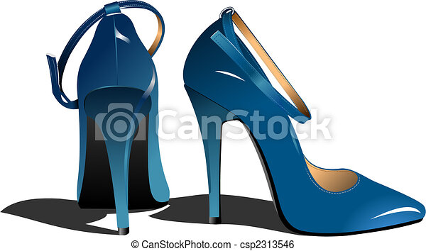Fashion woman shoes. Vector illustration - csp2313546
