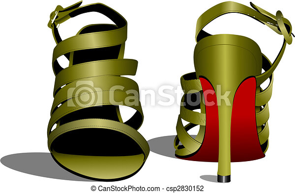 Fashion woman shoes. Vector illustration - csp2830152